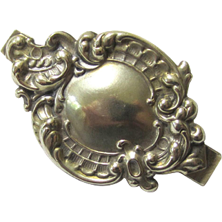 Versatile Small German Silver Chatelaine Plaque, early 20th Century