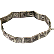 Chatelaine Belt, Chinese Export Silver, late 19th Century