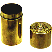 Cylindrical Brass Vesta or Go To Bed