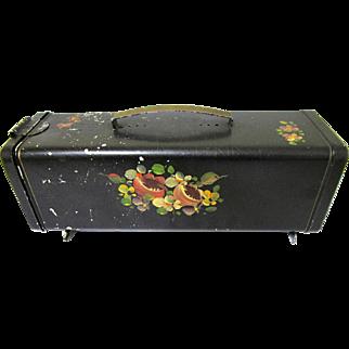 Shabby Chic Decorative Painted Toleware Bread Box