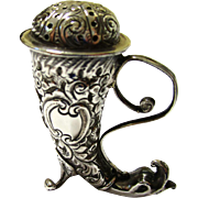 Stylish Sterling Silver Cornucopia Pepperette/Pepper, late 19th Century