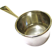 German Silver Miniature Saucepan or Brandy Warmer, possibly for a Doll's House, late 19th – early 20th Century