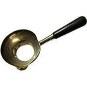 Silver & Ebony Miniature Saucepan or Brandy Warmer, possibly for a Doll's House, early 20th Century