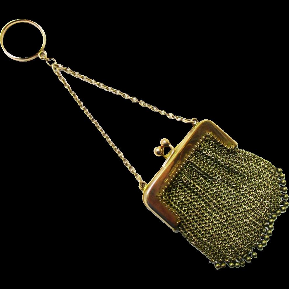 Elegant 9k gold finger ring chatelaine purse birmingham for Sell jewelry birmingham al