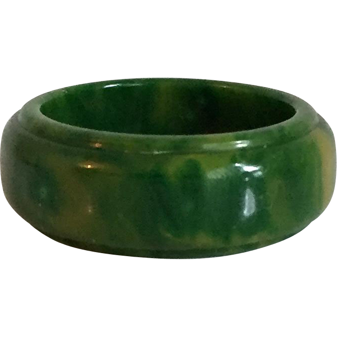 Bakelite Carved Ring