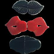 c1930 Bakelite Belt Buckles