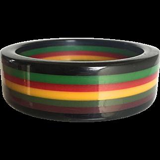 Bakelite Bangle Bracelet Seven Layer Laminated