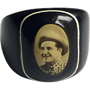 Celluloid Ring with Photographic Image c1920-30