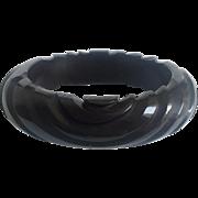 Bakelite Bangle Bracelet Spiral Carved Prystal