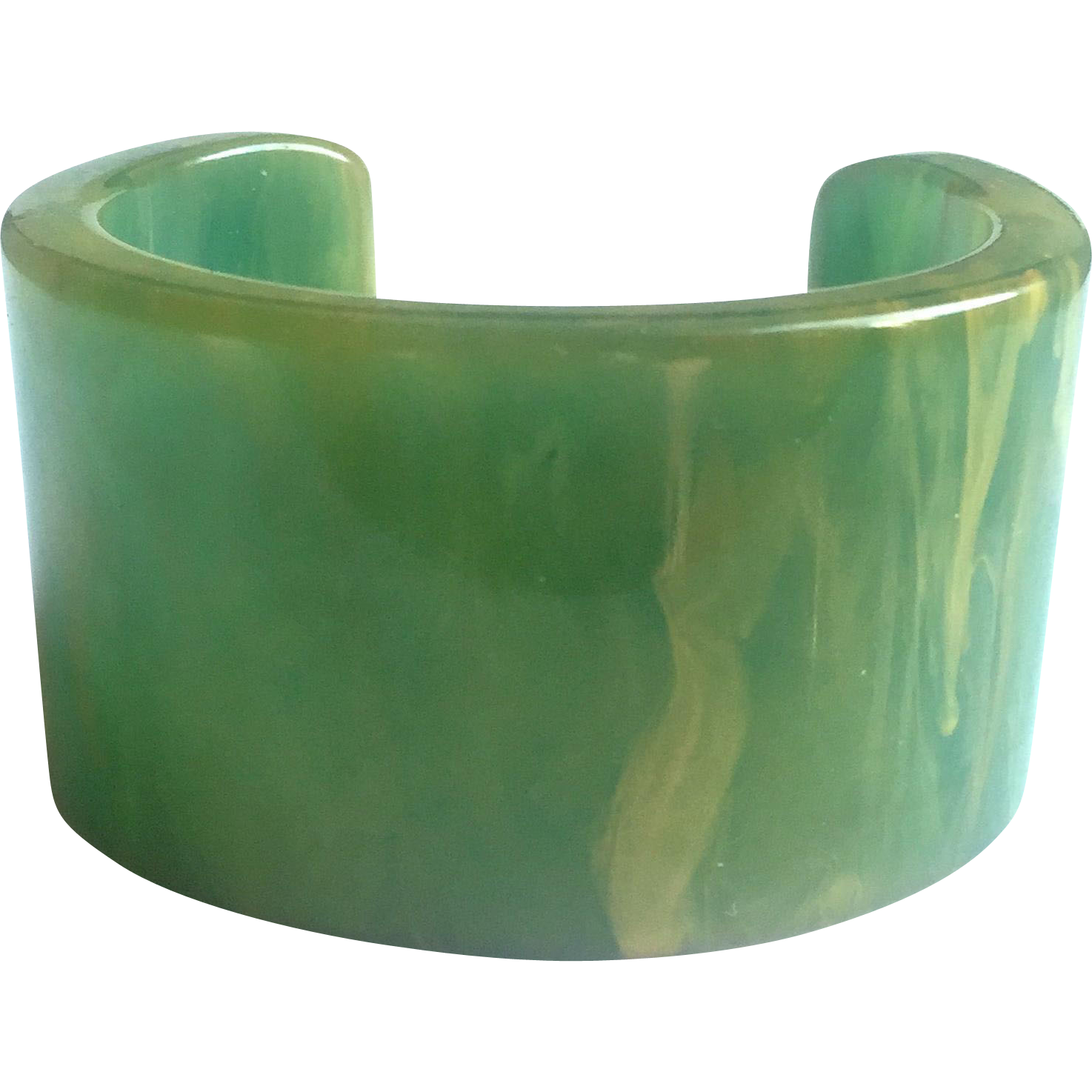 Bakelite Marbled and Translucent Cuff Bracelet