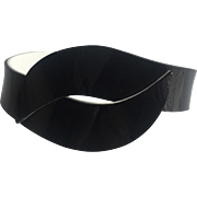 Plastic Cellulose Acetate Bracelet Black and White