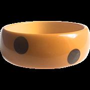 Polka Dot Bakelite Bangle Bracelet 6 Dot