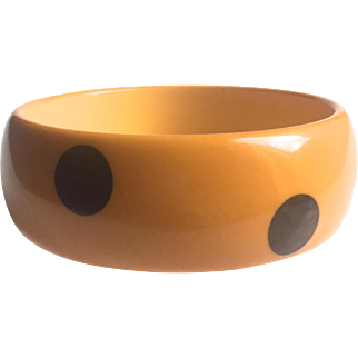 Polka Dot Bakelite Bangle Bracelet 6 Dot