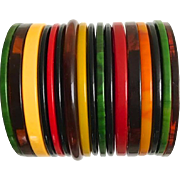 Bakelite Bangle Bracelets 9 Spacers