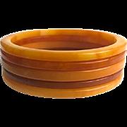 Bakelite Bangle Bracelets Set of 5 Tropical Fruit Colors