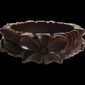 Bakelite Bangle Bracelet heavily Carved