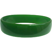 Bakelite Bangle Bracelet Translucent Green