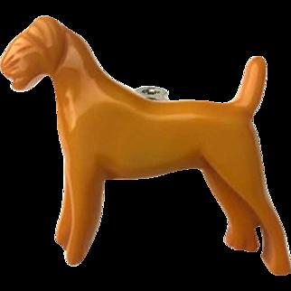 Bakelite Carved Figural Dog Dress Fur Clip
