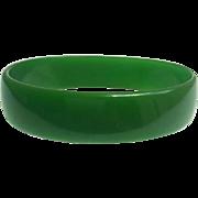 Bakelite Bangle Bracelet  Translucent Green