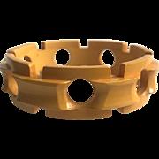 Bakelite Bangle Bracelet  Carved in a Chain Design