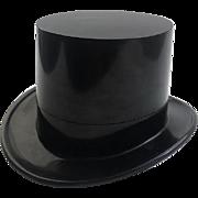 Bakelite Top Hat Box with Hinge