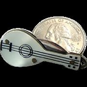 "Antique 3,5 - 1 1/4"" cm  long Miniature  Guitar Folding Knife"