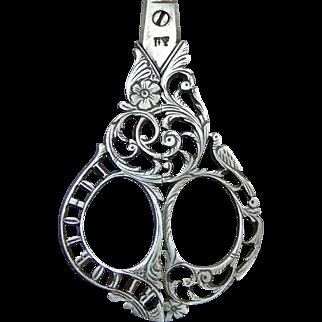 Antique Italian Steel Filigree Embroidery Scissors Ricordo Di venezia * Circa 1890