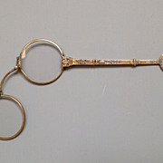 Antique Gilt Bronze Lorgnette