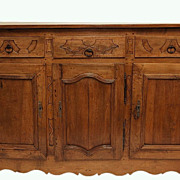 French 18th c.Walnut Buffet Sideboard w/keys