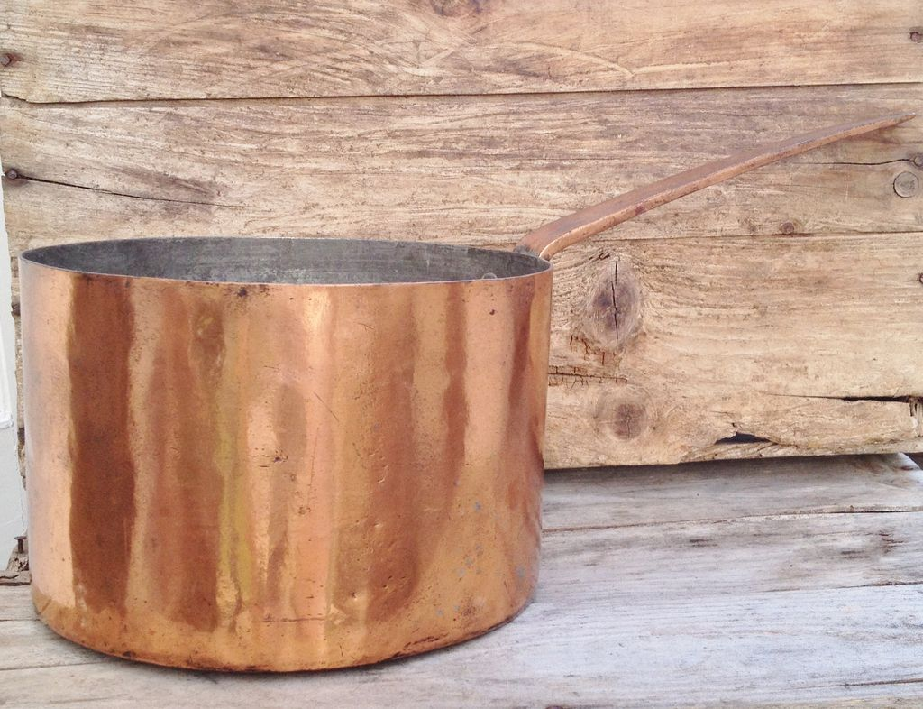 Early 19th Century Dovetail Copper Saucepan circa 1820