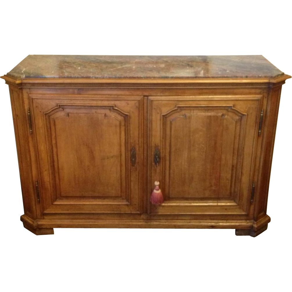 Marble Top Buffet ~ Thc french walnut sideboard server buffet with marble