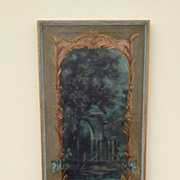 -On Sale-Fabulous 18th C. Capriccio Painted Panel