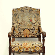 19th C. French Walnut Armchair LXIII Style