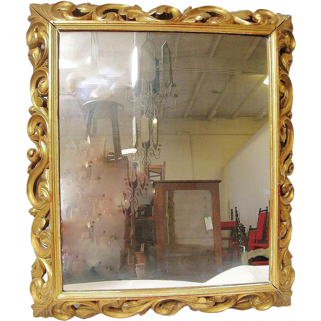 Antique Gilt Italian Florentine Mirror