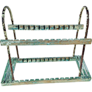 Vintage Plate Drying Rack Chippy Paint
