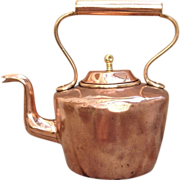 19th C. Copper Water Kettle Dovetailed