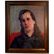 Vintage Oil Painting Portrait of a Women