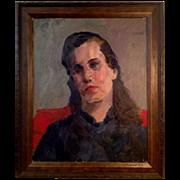 Vintage Oil Painting Portrait of a Women