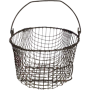 Vintage Wire Ware Gathering Basket