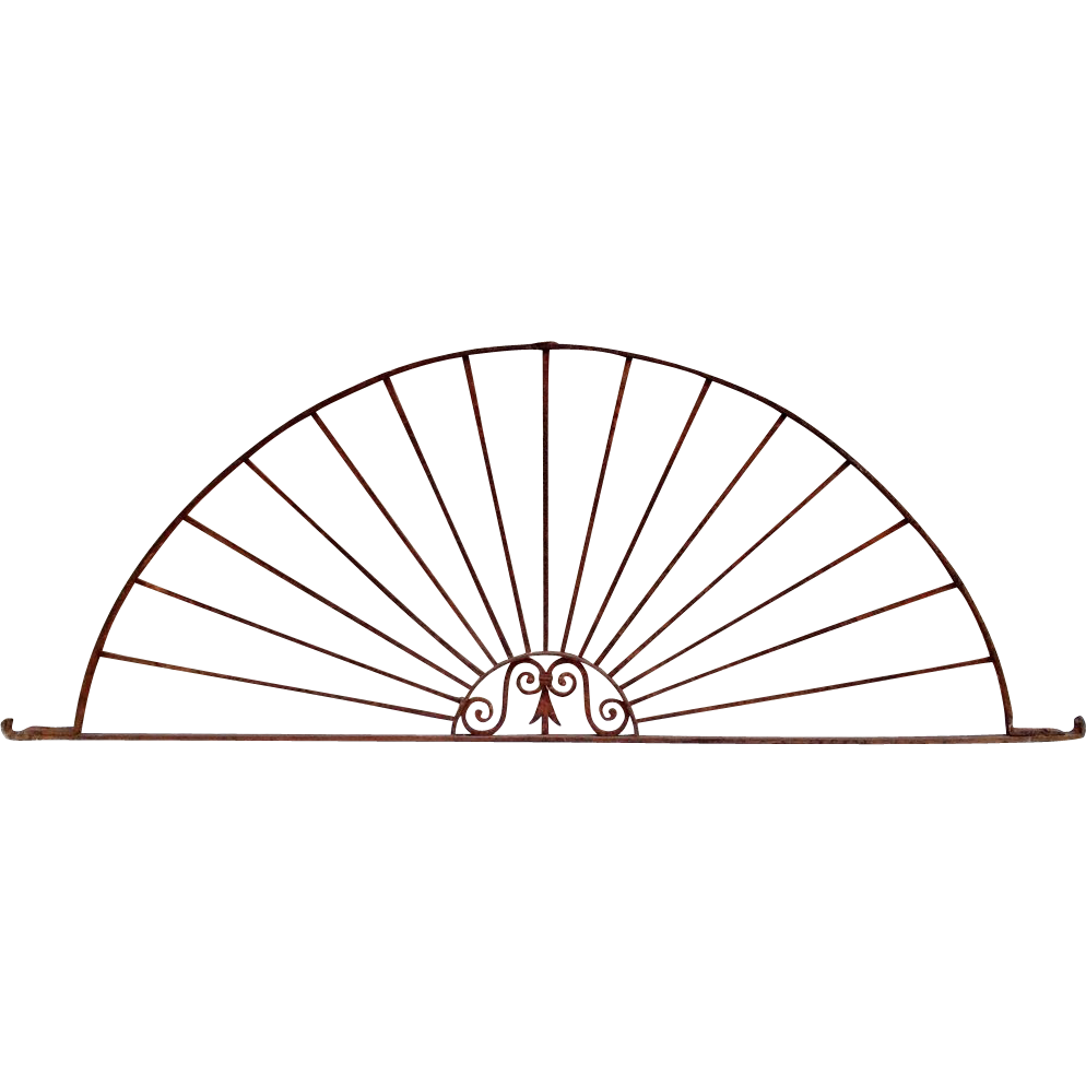 Antique Wrought Iron Architectural Sunburst Arch