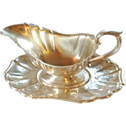 Silverplate Sauce Boat Gravy Boat With Matching Under Plate