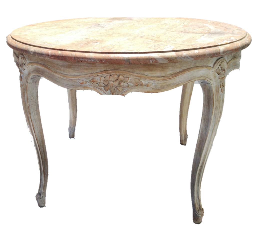 Vintage Round French Carved Coffee Table Cocktail Table W