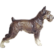 Terrier Figurine Porcelain Dog Hand-Painted  Vintage