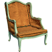 French Louis XV Style Painted Bergere Frame Early 20th Century