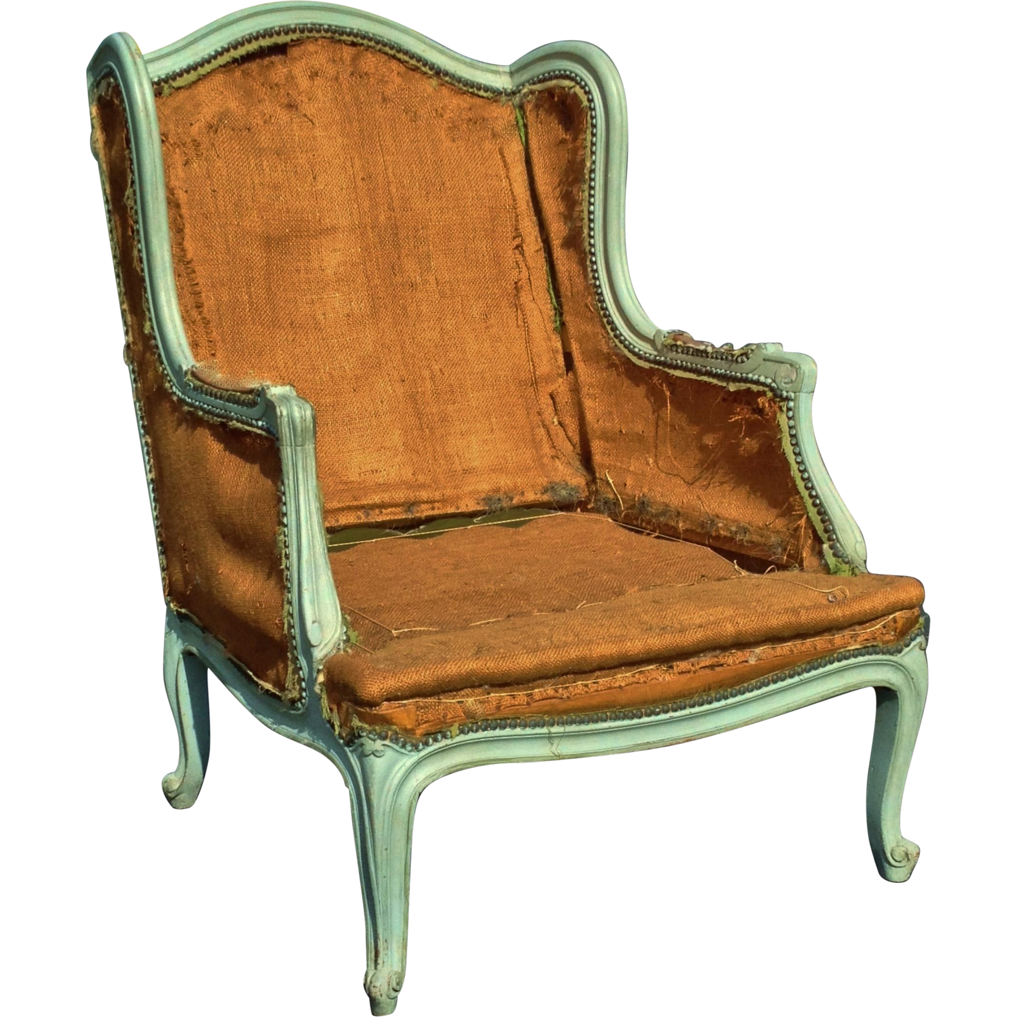 Fine Louis XV Style Painted Wing Bergere Frame Early 20th Century
