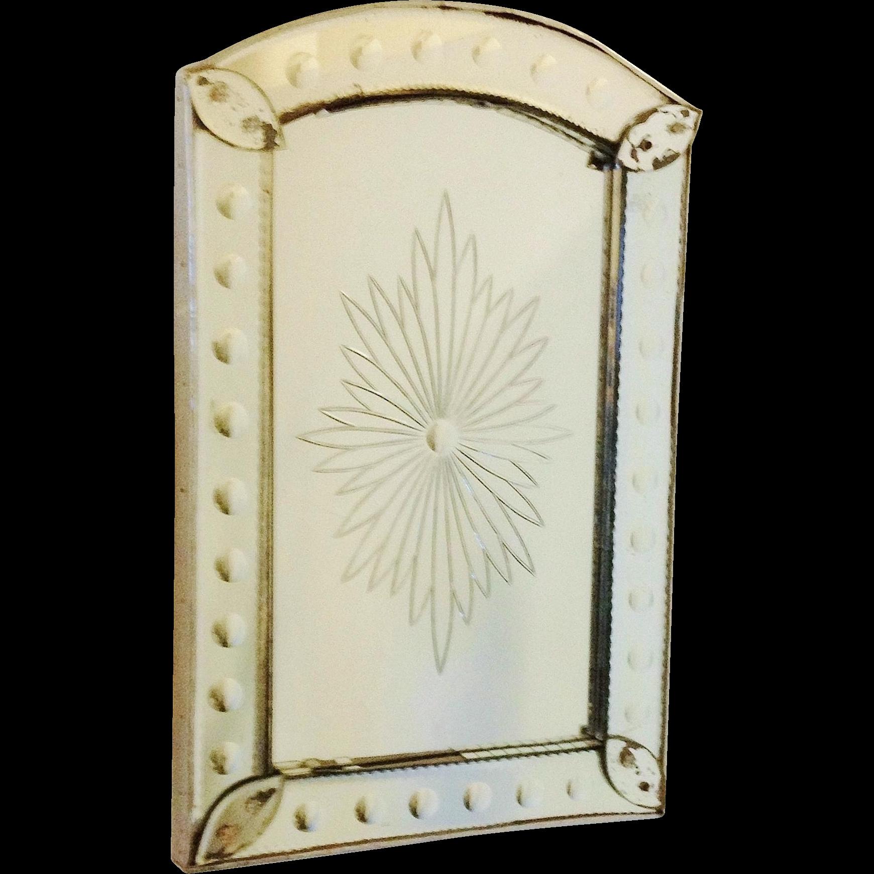 Mid-Century French Deco Starburst Bistro Mirror