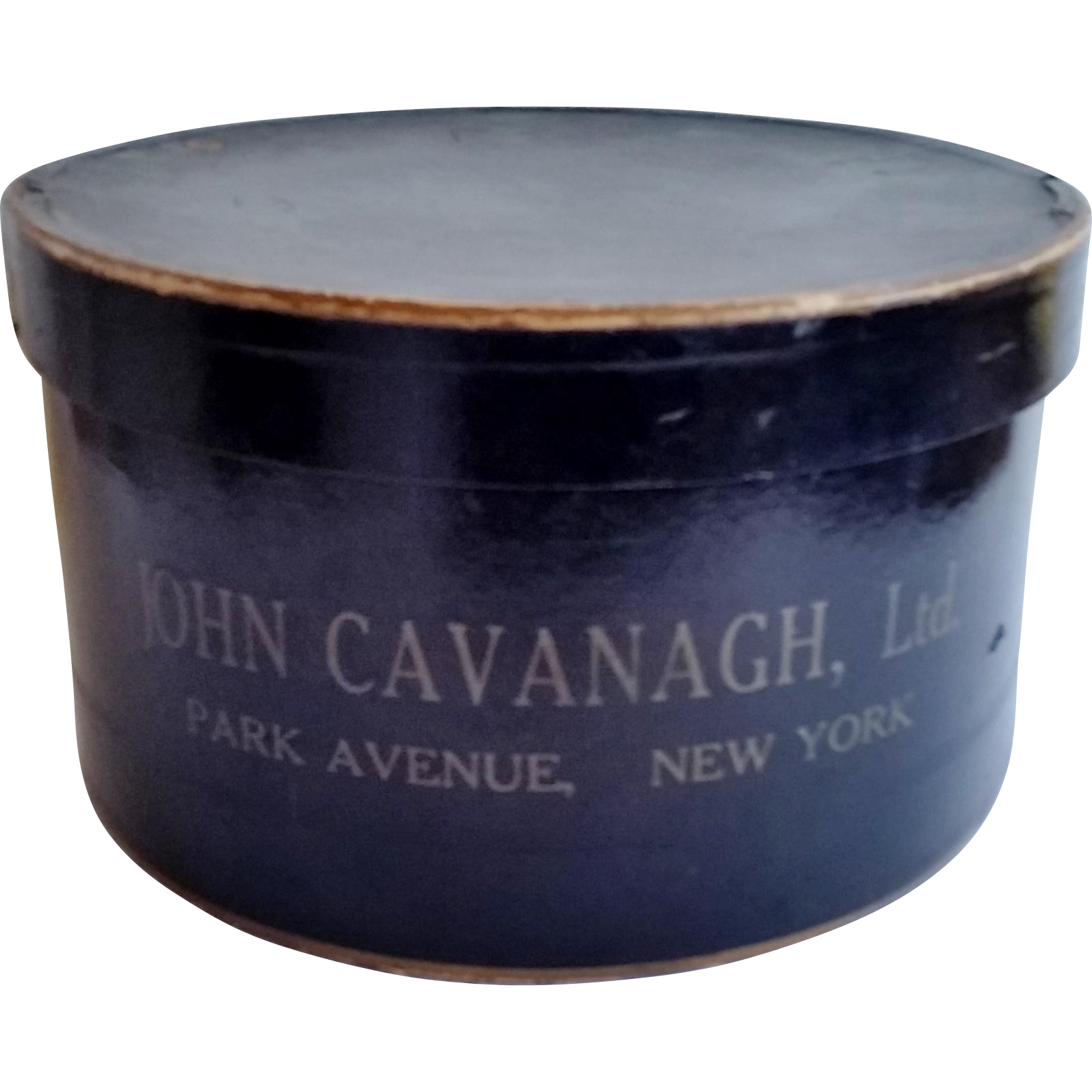 Vintage Hat Box John Cavanagh Ltd. Park Avenue, New York early 1900's