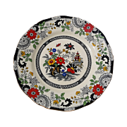 Coalport Kings Ware Canton Plate Black and Red Transferware