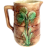 Antique Majolica Barrel Pitcher