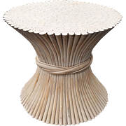 McGuire Vintage Rattan Wheat Sheaf Table